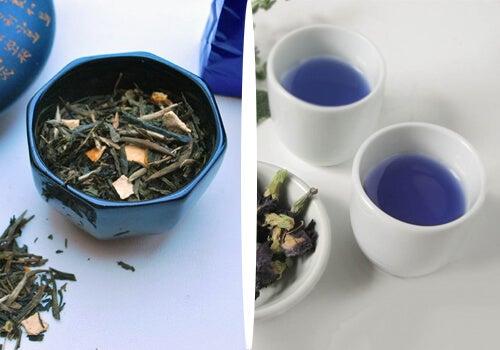 Blå te: Naturlig ned i vekt med denne te-sorten