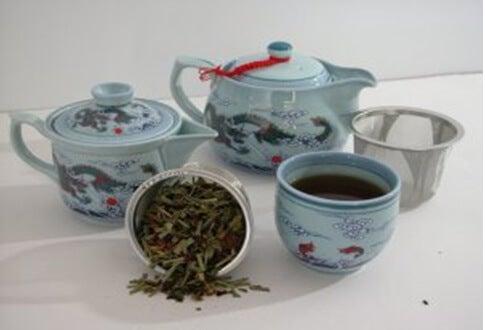 blå-te
