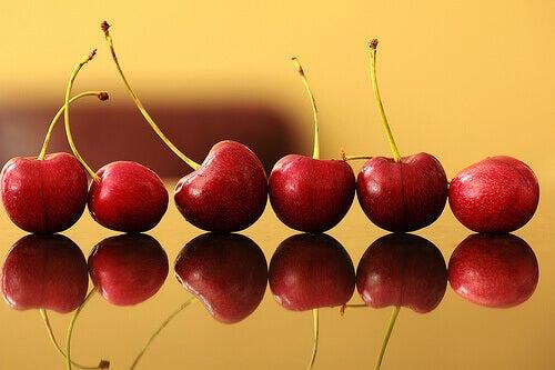 kirsebær inneholder antioksidanter