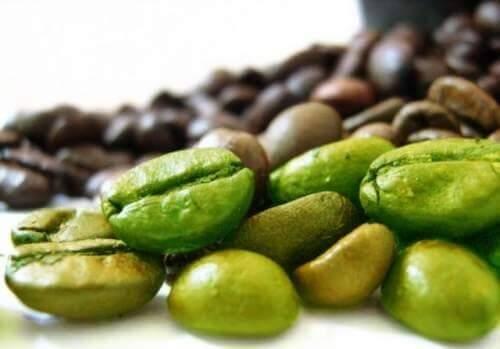 Rene grønne kaffebønner Grønn kaffe å drikke