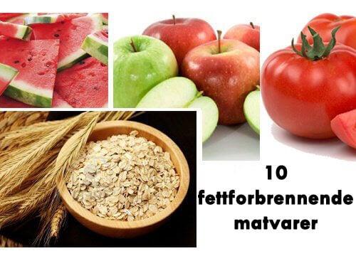 10 matvarer som kan forbrenne fett