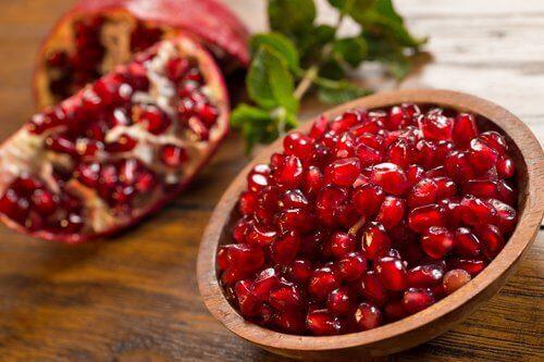 granateplefrø er rike på antioksidanter