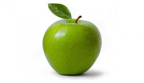 grønt eple med skall er det beste