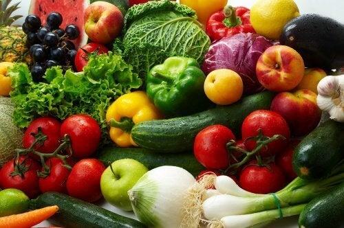 rå grønnsaker inneholder mange næringsstoffer