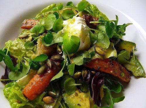 Spis salat som hovedrett og bli mett