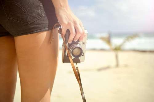 kvinne på stranden