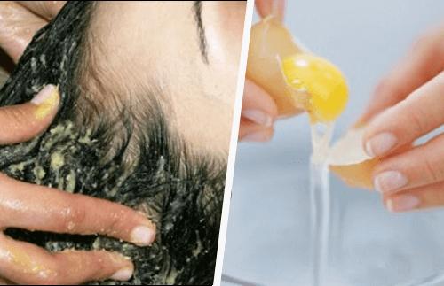 En eggemaske i håret kan hjelpe hårveksten din