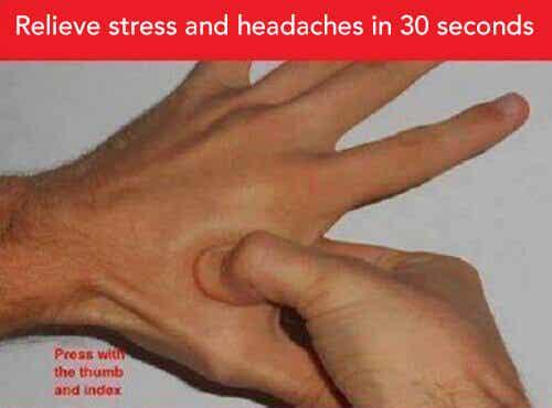 Kurer hodepine og stress med akupressur
