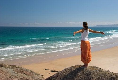 utsikt over strand