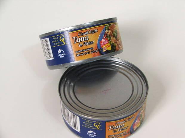 tunfisk på hermetikkboks er en av de mest brukte matvarene