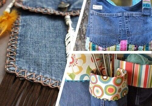 9 måter å gjenbruke gamle jeans på