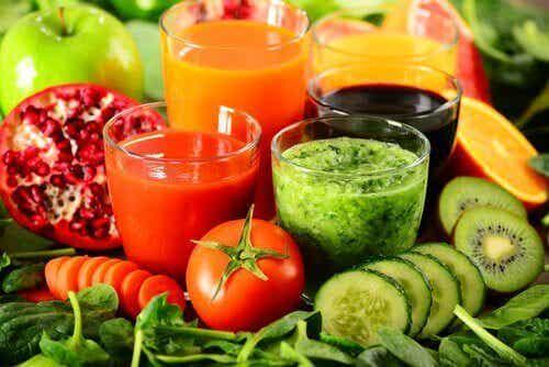 Gå ned i vekt med rensende drikker