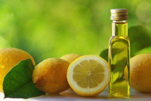 olivenolje og sitron