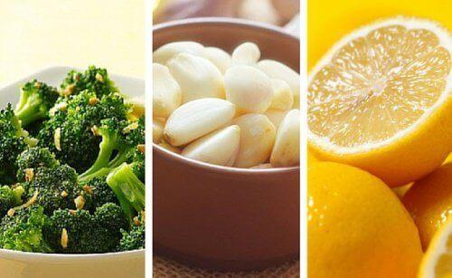 Vekttap og helse: Brokkoli, sitron og hvitløk