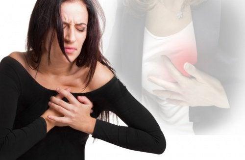 infarkt kvinner symptomer