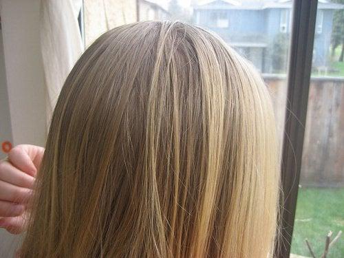sitron i håret