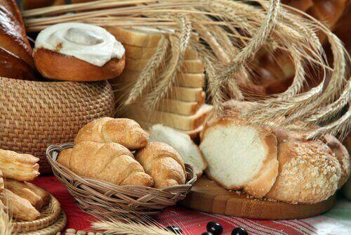 hveteprodukter øker slimproduksjonen