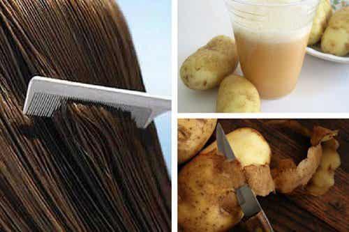Bruk saft fra poteter for å fremme hårvekst