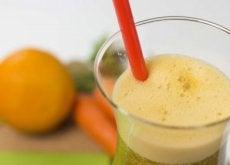 Juice av gulrot, appelsin og persille for vekttap