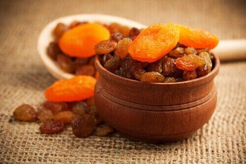 Tørket frukt styrker bein og bekjemper trøtthet