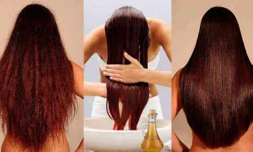 100% naturlig balsam for å styrke håret