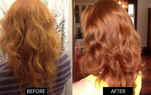 hår før og etter
