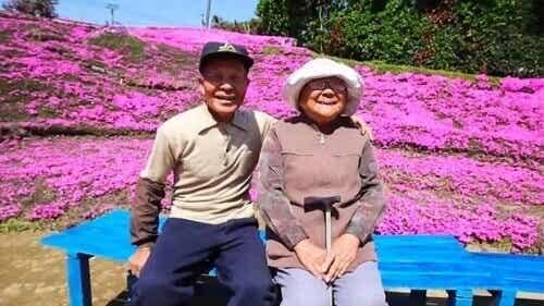 Mann planter 1000 blomster for sin blinde kone