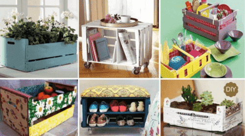 20 kreative måter å gjenbruke trekasser hjemme