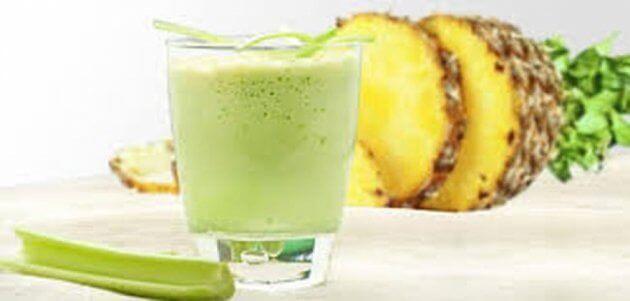 Smoothie med ananas og selleri - en herlig smak
