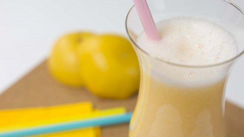 Juice med mango, cantaloupe melon, appelsin og grapefrukt