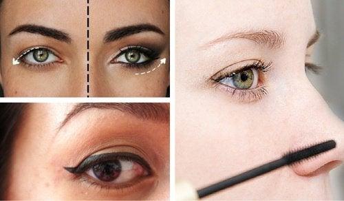 8 kosmetiske triks for å skjule hengende øyelokk