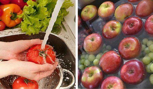 Slik vasker du av plantevernmidler fra frukt og grønnsaker