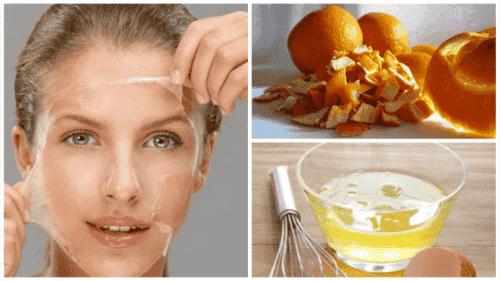 Ton huden med denne behandlingen med eggehvite og appelsinskall