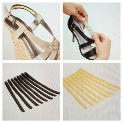 Bruk klebeputer i skoene