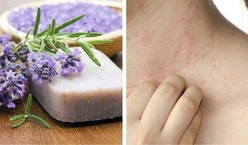 Spesiell hjemmelaget såpe for sensitiv hud og dermatitt
