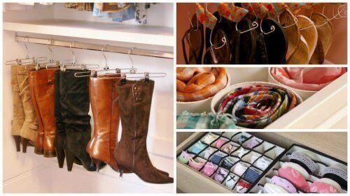 17 tips for å organisere skapet ditt og spare plass