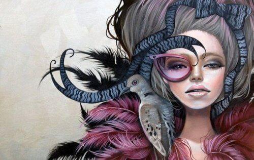1-kvinne-med-fugl-pa-skulder