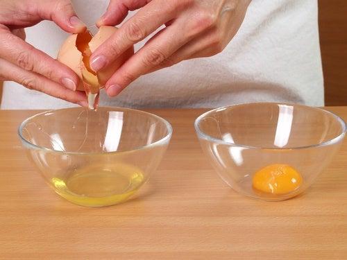 hjemmelaget ansiktsmaske egg