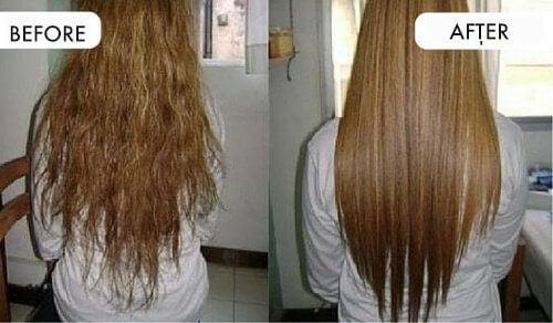 Rett håret ditt med naturlige ingredienser fra kjøkkenet