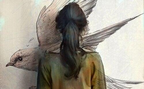 kvinne-maleri-fugl