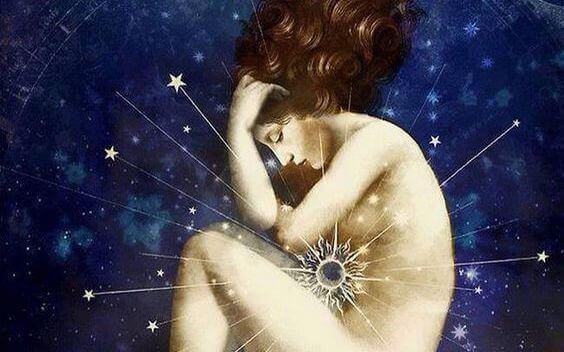 Kvinne med en stjerne