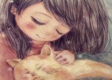 1-barn-med-katt