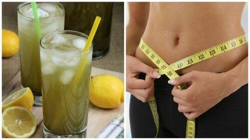 Slik lager du en limonade med grønn te for vekttap
