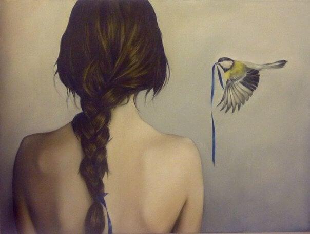 kvinne-med-fugl