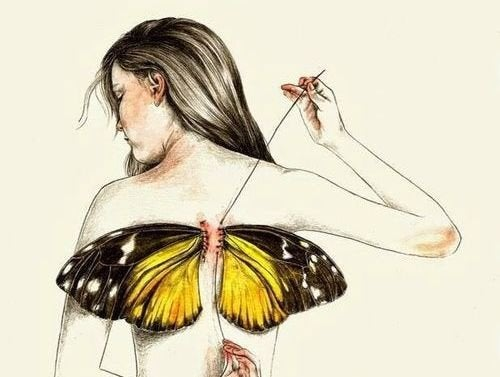 Vi er alle født med vinger, men noen ganger tar livet dem
