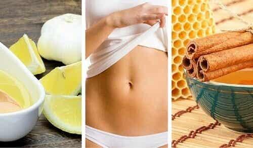 5 naturlige drikker for å få en flatere mage