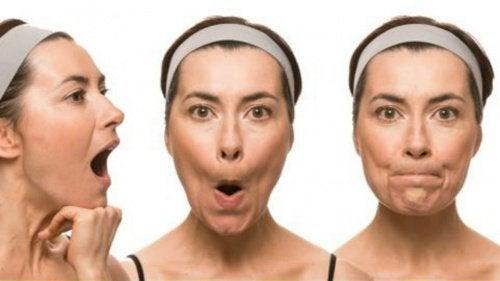Ansiktsøvelser for å forhindre slapt ansikt og rynker