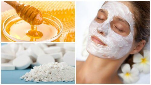 Ansiktsmaske av aspirin og honning