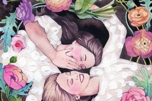 venner-omgitt-av-blomster
