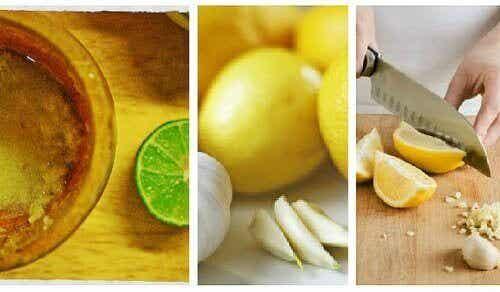 Du kan bekjempe magefett med hvitløk og sitron
